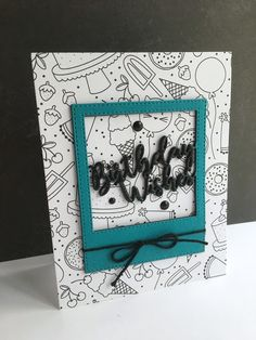 I'm in Haven: Simon Says Stamp Birthday Wishes Frame card
