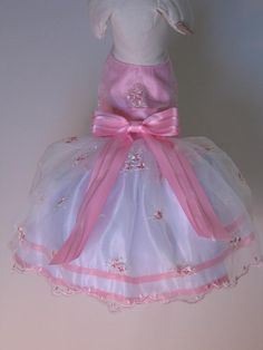 Pink Embroidered Organza Dog Dress by FantasyPupFashions on Etsy, $40.00