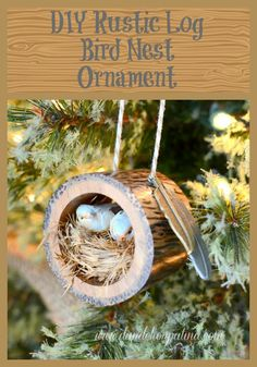 Super cute Christmas ornament and so easy to make! Oh my gosh, you have got to try this one if you love rustic style. via dandelionpatina.com #ornament #rustic