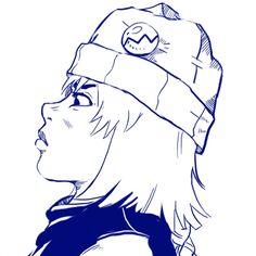 Sketch - Estudo de um personagem - rascunho de intervalo do trabalho #graco #krita #girl #sketch #anime #manga #lineart