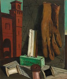 Giorgio de Chirico, The Amusements of a Young Girl, late Oil on canvas, The Museum of Modern Art: Painting and Sculpture Italian Painters, Italian Artist, Richard Hamilton, Victorian Art, Traditional Paintings, Russian Art, Fantastic Art, Museum Of Modern Art, Red Poppies