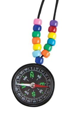 """Easy VBS or Sunday School object lesson / craft. Pony Beads and small compass. (""""Which Way Compass"""") Safari Crafts, Vbs Crafts, Church Crafts, Camping Crafts, Camping Theme, Bible School Crafts, Bible Crafts For Kids, Sunday School Crafts, Cave Quest Vbs"""