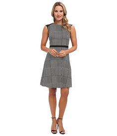 Calvin Klein Calvin Klein  Flared Dress w Mesh Geometric Combo Womens Dress for 52.99 at Im in!