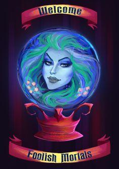 Art Of Urbanstar Disney Dream, Disney Fun, Disney Magic, Disney Movies, Haunted Mansion Halloween, Disney Halloween, Haunted Mansion Disney, Haunted Mansion Tattoo, Haunted Mansion Wallpaper