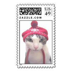 snow cat stamp. Wanna make each letter a special delivery? Try to customize this great stamp template and put a personal touch on the envelope. Just click the image to get started!