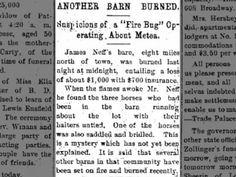 Jim Neff's barn burnt 30 Dec 1893