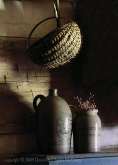 I really like this idea of  'dangling' a basket from a hook ....  have a basket...and a hook... looking for a space!      ;)