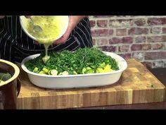 Sałatka z ogórków małosolnych i młodych ziemniaków / Oddaszfartucha - YouTube Potato Salad, Dips, Grilling, Potatoes, Herbs, Youtube, Plants, Dressing, Food