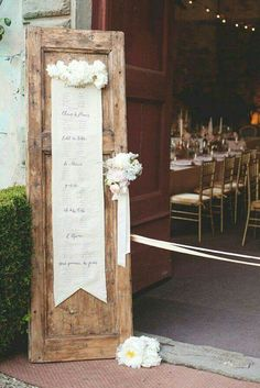 Wedding seating inspiration
