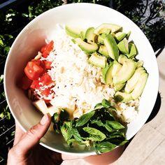 bol cuisine legume tomate avocat riz