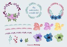 Acuarela ofrenda floral y decoración