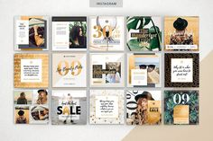 Web Elements Product Images ~ GOLDEN Theme | S… ~ Creative Market