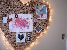 Wine cork heart pin board <3