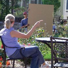 Will a privacy fence really deliver privacy—or hide your neighbor's junk collection? Finding out is easy with a big sheet of cardboard. Along with a helper, you can determine the best location and height.