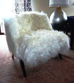 TODAY ONLY SALE  faux fur chair  luxurious by REviveALL on Etsy, $475.00