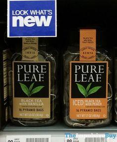Pure Leaf Black Tea with Vanilla and Iced Black Tea with Peach