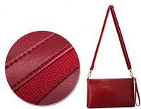 Genuine Cow Leather Envelope Shoulder Bag For Ladies Fashion New Arrive Long Adjustable Strap