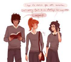 Genderbent Hermione Granger, Ron Weasley and Harry Potter. J K Rowling