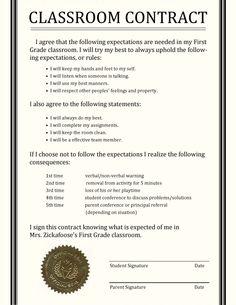 Classroom Contract Idea