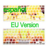 Marble Pattern EU Version Spanish Language Silicone Keyboard Cover Case For Macbook Air Pro Retina 12 13 15 17inch