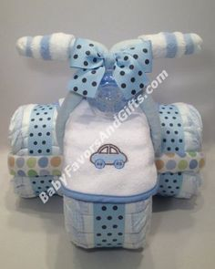 Tricycle Diaper Cake for Boy - 9990187 - Baby Boy - Diaper Cakes - by Babyfavorsandgifts