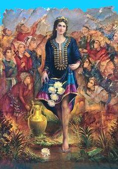 Turandokht (Turanian girl) Sassanid Princess, daughter of Khosrow Parviz, sister of Azarmidokht and Purandokht.
