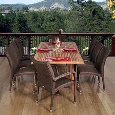 International Home Miami Normandie 9 Piece Dining Set & Reviews | Wayfair