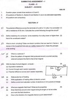 Cbse    Class  Sa Question Papers  Maths  Question