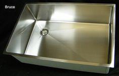 Ultraclean Undermount Seamless Kitchen Sink  No Drain Seam