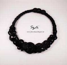 "Naszyjnik Sutasz/Soutache necklace ""Keerla"""
