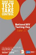 Take the Test. Take Control. #NationalHIVTestingDay