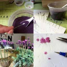 How to make miniature lavender by Nancy Enge Design #HBSCreatinContest2016