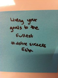 How do you #definesuccess? Compare your defintion to that of other Purdue students for some Monday morning inspiration