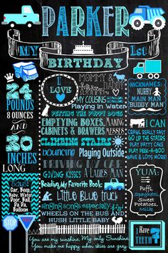 Little Blue Truck Birthday Party Decorations Printable Package