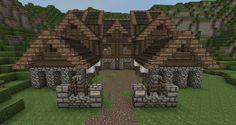 Medieval Village Blueprints Minecraft tutorial Minecraft Gundahar Tutorials Medieval Barrac Minecraft houses Minecraft castle Minecraft houses blueprints
