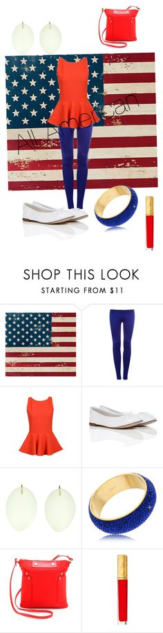 """""""Red, White, and Blue"""" by fiat-justitia ❤ liked on Polyvore featuring Pottery Barn, Pull&Bear, Repetto, Ted Muehling, Marc by Marc Jacobs and Estée Lauder"""
