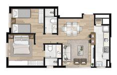 House Floor Design, Small House Design, House Floor Plans, Small Modern House Plans, Small Cottage House Plans, Small Villa, Architectural Floor Plans, Apartment Floor Plans, Floor Layout