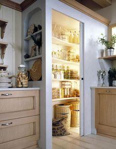 48 gorgeous corner cabinet storage ideas for your kitchen 41 - Kitchen Pantry Cabinets Corner Kitchen Pantry, Kitchen Pantry Design, Kitchen Pantry Cabinets, Storage Cabinets, Kitchen Storage, Corner Cabinets, Corner Larder Cupboard, Kitchen Ideas, Pantry Storage