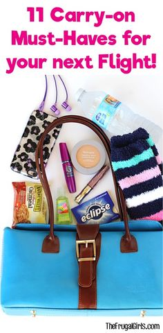 11 Carry On Must Haves for your Next Flight - from TheFrugalGirls.com ~ Planning a getaway?  Be sure to add these things to your carry on!  #6 is such a lifesaver!!