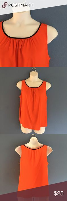 """Vince Camuto Tank Top Orange and black are the perfect color combinations.  Pair with black pants and you have a great outfit.  Measurements(Flat):  Length - 25""""/Bust - 24""""/Waist - 25"""" Vince Camuto Tops Blouses"""