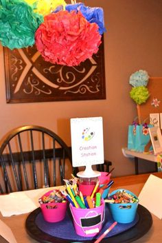 Arts & Crafts Arts & Craft Party Party Ideas   Photo 6 of 23
