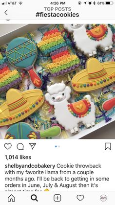 Cute Cookies for Iced Cookies, Cut Out Cookies, Cute Cookies, Royal Icing Cookies, Sugar Cookies, Cupcakes, Cupcake Cookies, Mexican Cookies, Fiesta Cake