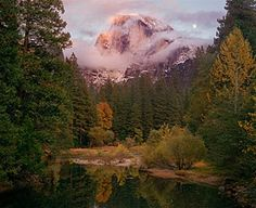 Half Dome, Moon, Autumn by Charles Cramer