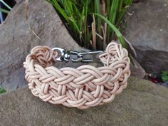 Ledergeflecht Halsband für Hunde