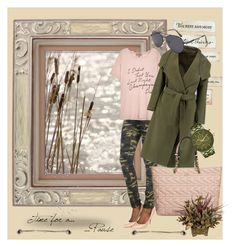 """""""Camouflage"""" by zdenicka on Polyvore featuring Wildfox, Karl Lagerfeld and Mimco"""