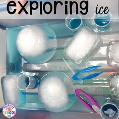 Arctic ice themed experiments and activities for preschool, pre-k, and kindergarten. Perfect for a winter, penguin, or polar bear theme. theme Arctic Ice Activities and Experiments - Pocket of Preschool