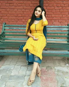 Image may contain: 1 person, sitting, child, shoes and outdoor Kurti Designs Party Wear, Kurta Designs, Beautiful Girl Indian, Most Beautiful Indian Actress, Indian Dresses, Indian Outfits, Patiyala Dress, Indian Designer Suits, Girl Fashion