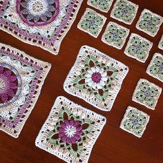 In der 4. Woche waren 2 mittelgroße Quadrate die Aufgabe im SpringlaneCal. Das Farbschema habe ich etwas verändert. #häkeln #gehäkelt #crochet #springlanecal #crochetalong #haken #uncinetto #hekle #dropsalong #diy #handmade #dropsdesign #dropscal #cal2017 #garnstudio #crochetlove #lanade #dropsparis #blanket #mysteryblanket