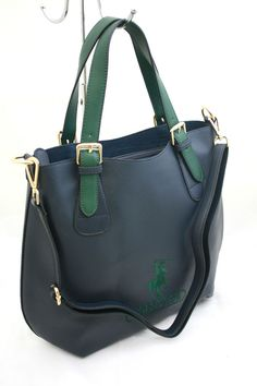 Borsa Shopping Greenwich Polo Club Art098 1T Ecopelle Effetto Saffiano Blu 7830432fdd2