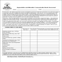 AAC Needs Assessment   DynaVox